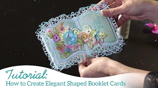 How to Create Elegant Shaped Booklet Cards
