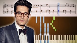 John Mayer   New Light   Piano Tutorial + SHEETS