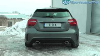 Video: Fox Sportauspuff Mercedes A-Klasse W176