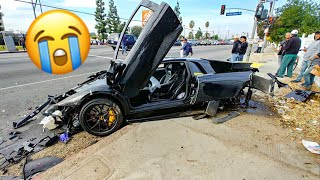 LAMBORGHINI CRASH DESTROYS MY FRIENDS DREAM CAR! *EMOTIONAL*