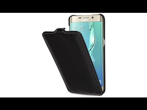 Tasche für Samsung Galaxy S6 edge+ UltraSlim aus Leder von StilGut