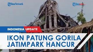 Ikon Gorila King Kong Raksasa di Jatim Park Hancur saat Gempa Malang, Begini Penampakannya