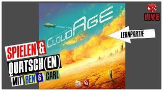 LIVE: Cloudage (Alexander Pfister 2020) Lernpartie + 2 weitere (Brettspiel deutsch)