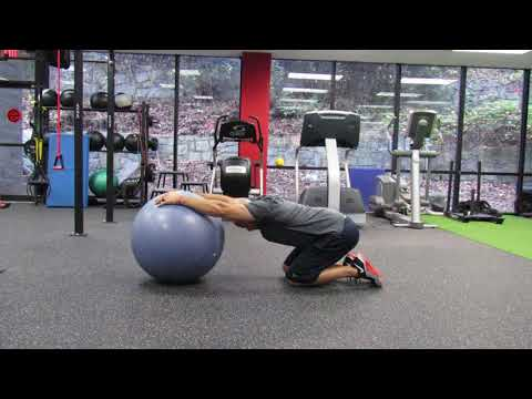Stretch: Physio Ball Lat Stretch