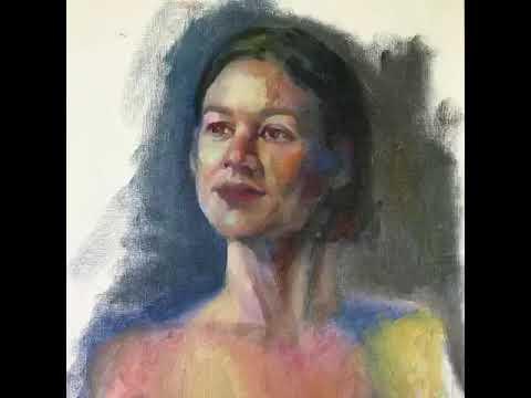 quick portrait in oil