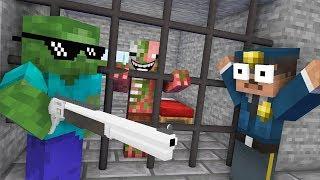 Monster School : ZOMBIE PIGMAN PRISON ESCAPE Challenge - Minecraft Animation