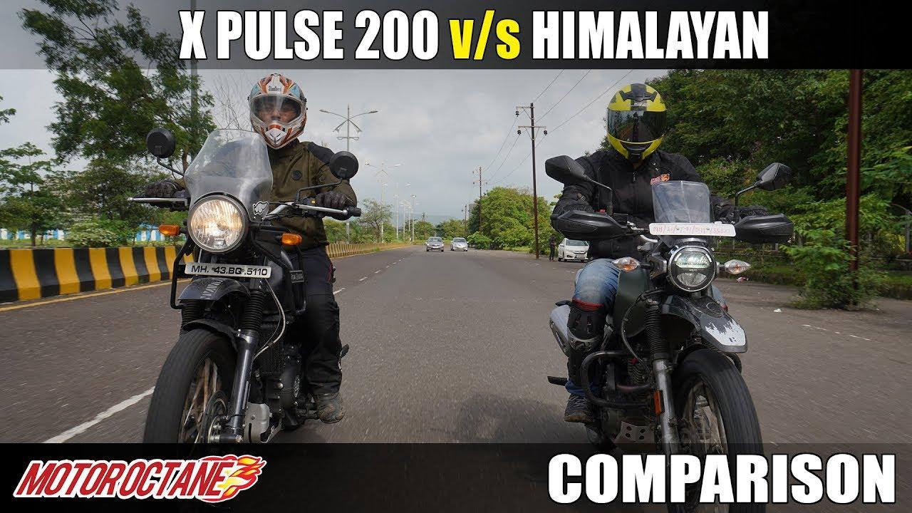 Motoroctane Youtube Video - Hero xPulse 200 vs RE Himalayan Comparison   Hindi   MotorOctane