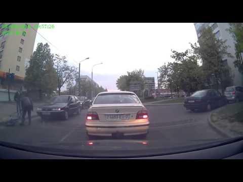 ДТП  пьяный велосипедист выехал перед Citroen