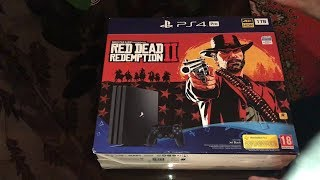 РАСПАКОВКА PS4 PRO RED DEAD REDEMPTION 2 EDITION