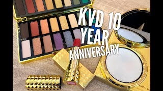 Kat Von D 10 Year Anniversary Collection: Overview & Tutorial - Video Youtube