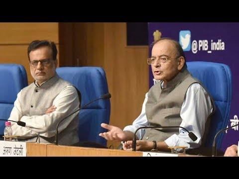 Press Conference by Finance Minister Arun Jaitley