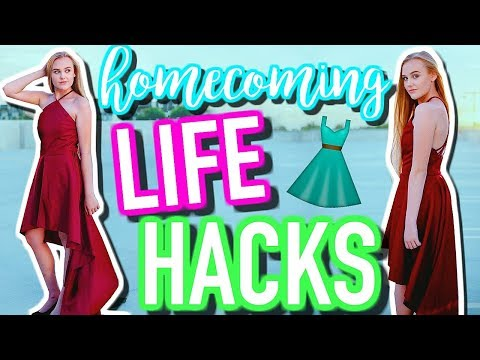 Homecoming Life Hacks + Tips | How to Find the Perfect Dress + Flawless Makeup & Hair