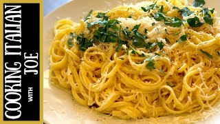 Worlds Best Pasta Al Limone With Linguine | Cooking Italian With Joe
