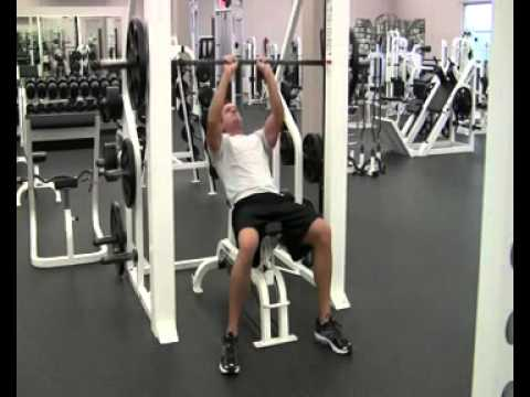 Incline Bench Press - Smith Machine - Close Grip