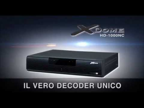Decoder digitale satellitare terrestre unico pezzo X Dome HD 1000NC