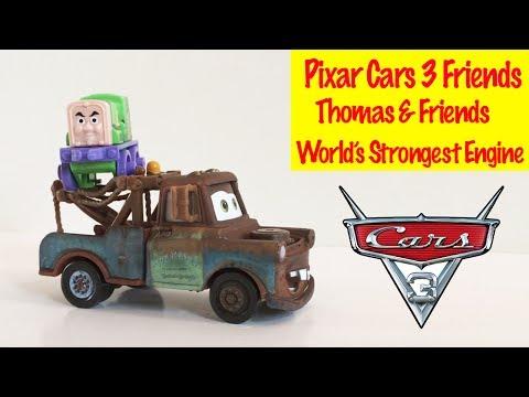 ⭐ Thomas & Friends Pixar Cars 3 Friends - World's Strongest Engine Competition Kids Toys