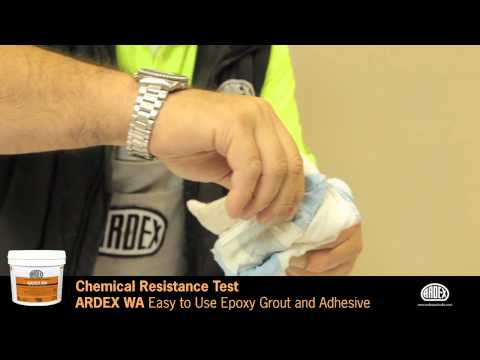 ARDEX WA Grout - Easy to Use Epoxy Grout and Adhesive - Chemical Resistance Test