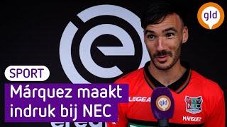 NEC'er Márquez maakt indruk: 'Nederlands voetbal is als in Spanje'