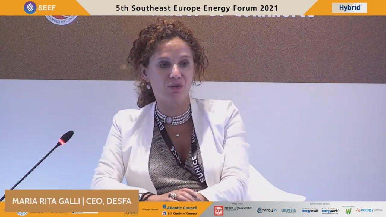 Η διευθύνουσα σύμβουλος του ΔΕΣΦΑ Ρίτα Γκάλι στο 5ο Southeast Europe Energy Forum.