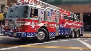 COMPILATION OF FDNY APPARATUS TAKING UP FROM MAJOR FIRES, COLLAPSES, EXPLOSIONS, ACCIDENTS & MORE. 7