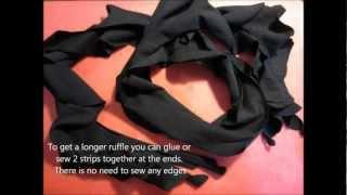 The DIY Ruffle Scarf