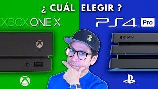 XBOX ONE X  vs  PS4 PRO  ¿ Cuál Elegir ? -  Los 4 aspectos que debes tomar en cuenta.