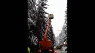 preview picture of video 'Feuerwehr Sayda - Schneebruch Richtung Heidersdorf  30.11.2012'