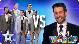 KNOCKOUT MATCH: Collabro vs Jamie Raven | Britain's Got Talent World Cup 2018 - Video Youtube