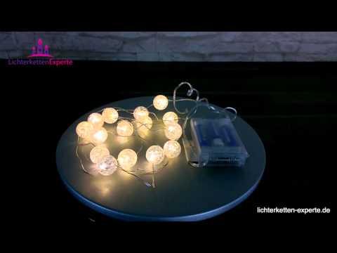 Lichterkette Bälle batteriebetrieben, Dekoration für Ihr Zuhause
