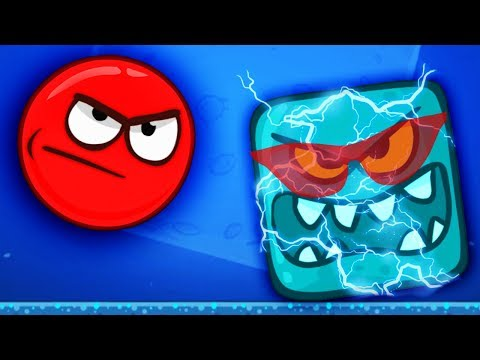 Red Ball 4 / ЛУННЫЙ БОСС против КРАСНОГО ШАРИКА! Весёлая игра, Приключения шарика на Луне