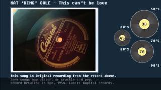 NAT 'KING' COLE- This can't be love, 78 Record