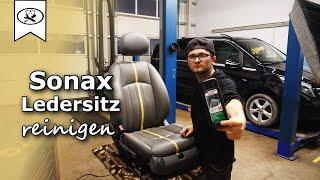 Sonax Test Ledersitz Reinigen / Pflegen | Cleaning / maintaining the leather seat | VitjaWolf | HD