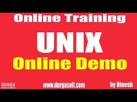 Learn UNIX Online Training Demo On 30-03-2018 by Dinesh sir