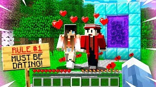 """Exploring A """"COUPLES ONLY"""" Minecraft Server"""