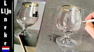 Hoe Teken Je Een Glas In Stappen - Realistisch