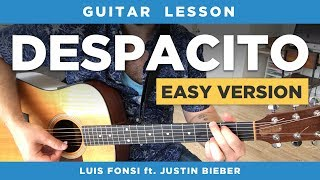 """🎸 """"Despacito"""" easy guitar lesson (with & without capo) (Luis Fonsi ft Daddy Yankee / Justin Bieber)"""