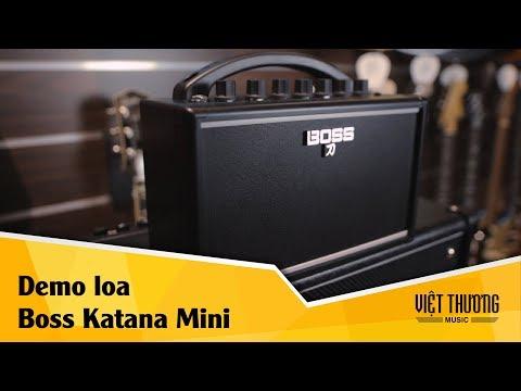 Demo Boss Katana Mini không dây với guitar điện