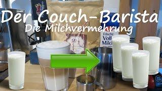 Wie man ein Glas Milch verdreifacht - Rezept für einen Latte macchiato