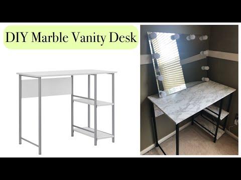 DIY MARBLE VANITY DESK | How to |