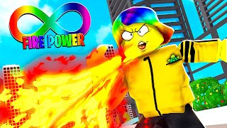 I Destroy the ENTIRE WORLD with INFINITE FIRE BREATH.. (Roblox)