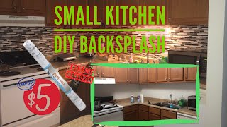 How To : Renter Friendly DIY Kitchen Backsplash Using Peel And Stick Contact Paper | ONLY $5