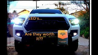 Auxbeam LED Headlights Low/High Beam Install Full Review (3rd Gen Tacoma)