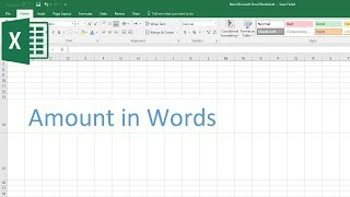 How to Convert Amount in Words in Excel (Spell Number)