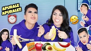 SPEED EATING CHALLENGE CON MI HERMANA!! | Louie's Life