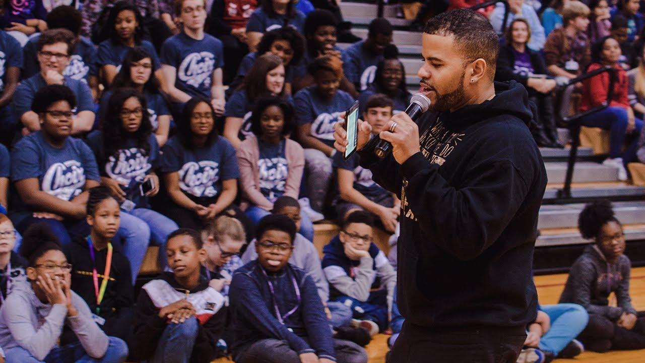 RJ Griffith - Anti-Bullying Week at Merrillville Intermediate School