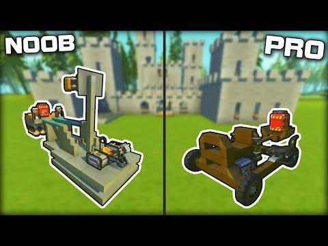 NOOB vs PRO Catapult Castle Siege! (Scrap Mechanic Gameplay)
