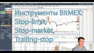Функционал биржи BitMEX: stop-limit, stop-market и trailing-stop ордера, интерфейс и рефералка