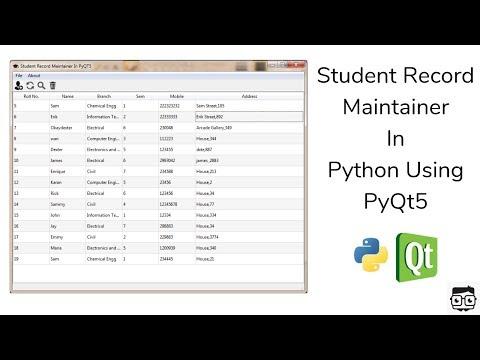 PyQt : Create Sqlite Database Using GUI QtDesigner