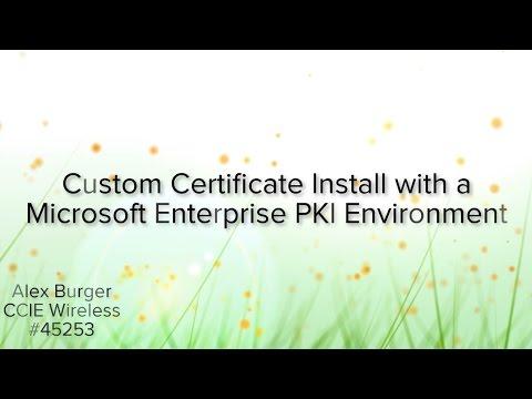 Cisco ISE Custom Certificate Installation - YouTube