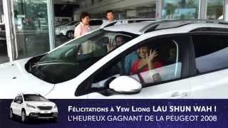preview picture of video 'Gagnant de la Peugeot 2008 au Grand Jeu de la Légende du Lion Bleu'